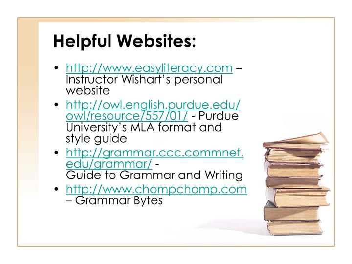 Helpful Websites: