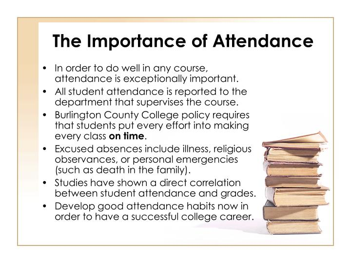 The Importance of Attendance