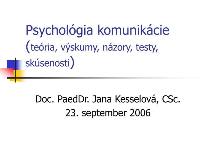 Psychológia komunikácie
