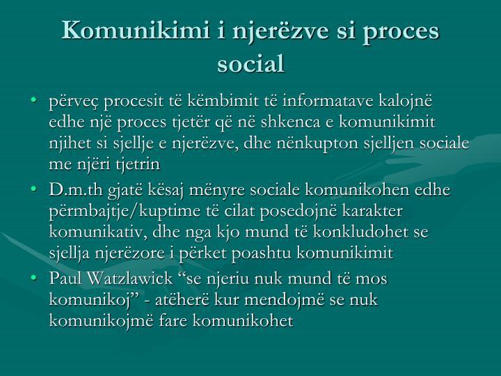 Komunikimi i njerëzve si proces social