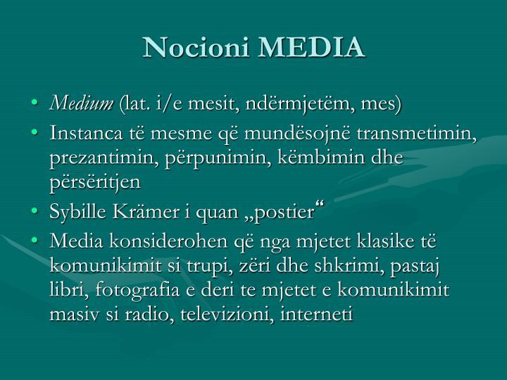 Nocioni MEDIA