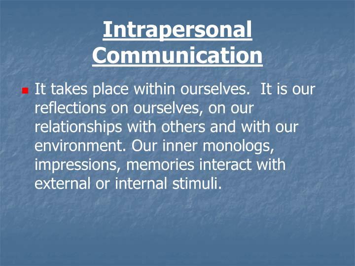 Intrapersonal Communication