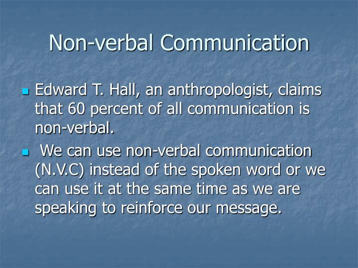 Non-verbal Communication