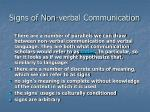 signs of non verbal communication