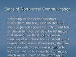 signs of non verbal communication1