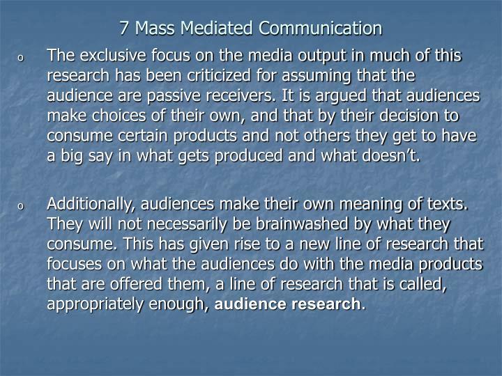 7 Mass Mediated Communication