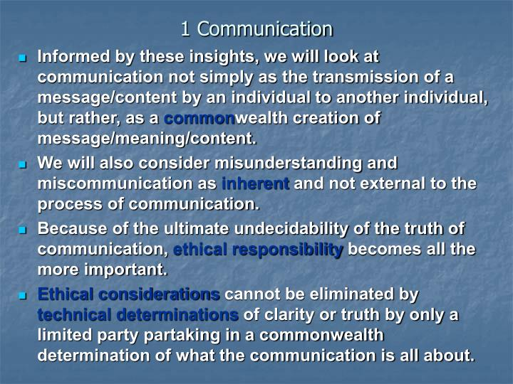 1 Communication