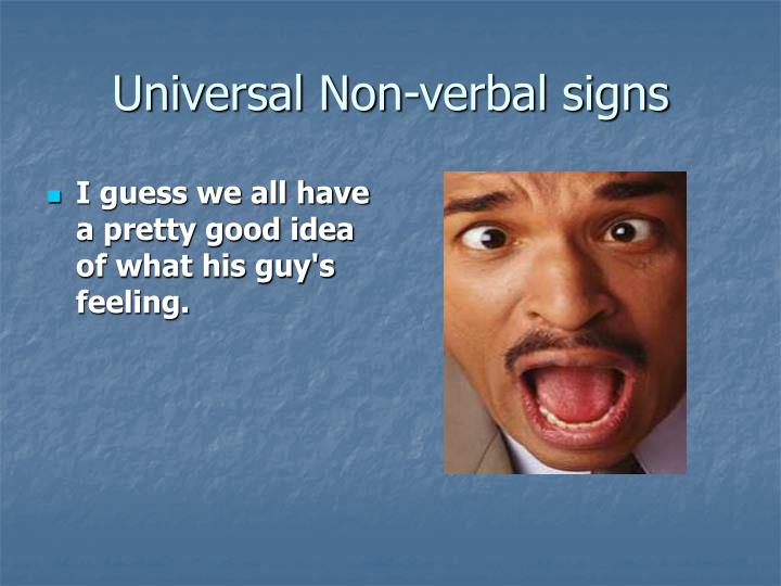 Universal Non-verbal signs