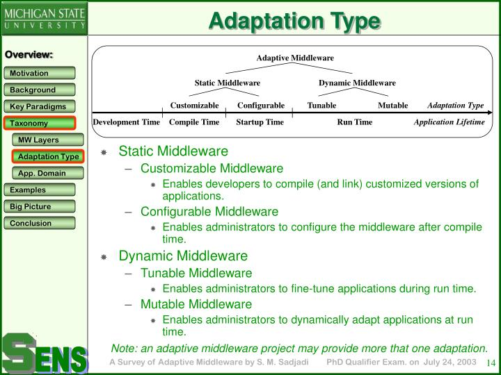 Adaptive Middleware