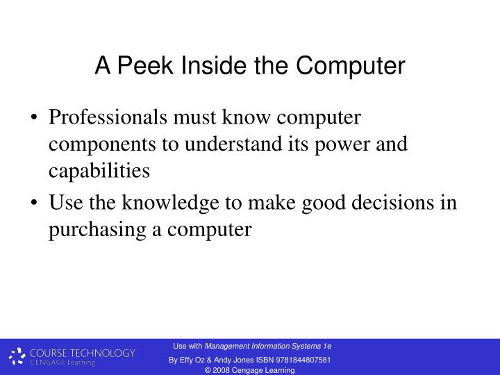 A Peek Inside the Computer