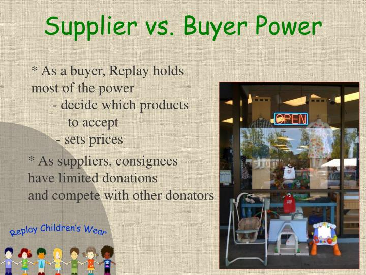 Supplier vs. Buyer Power