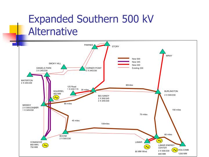Expanded Southern 500 kV Alternative