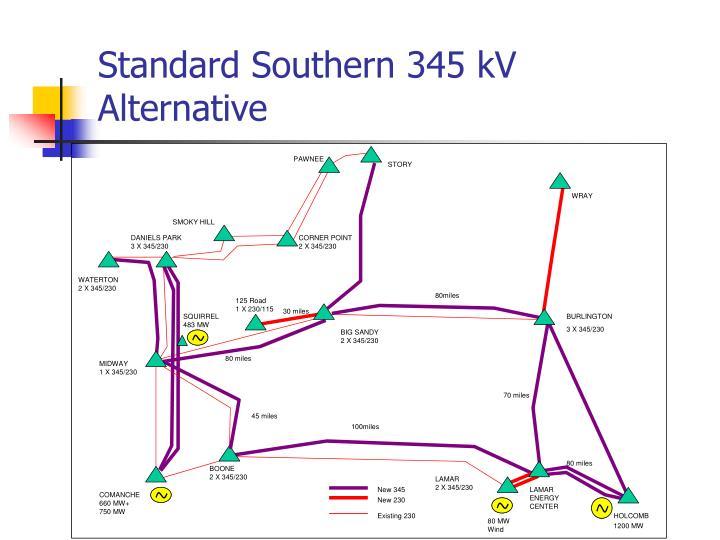 Standard Southern 345 kV Alternative