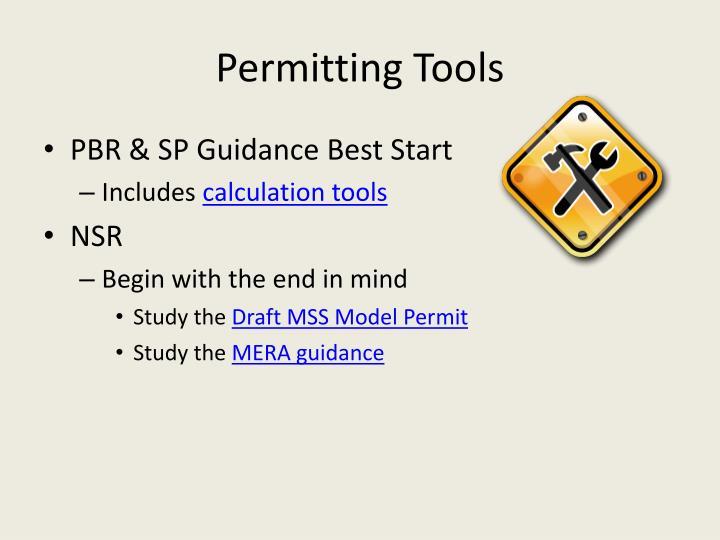 Permitting Tools