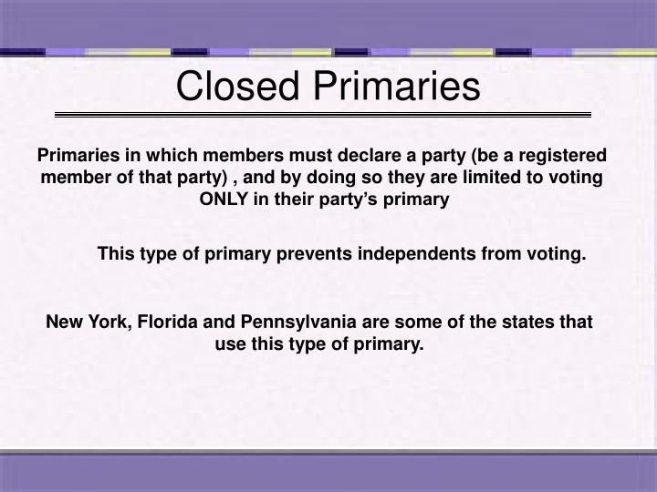 Closed Primaries