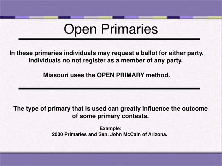Open Primaries