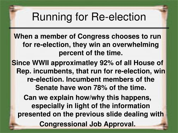 Running for Re-election