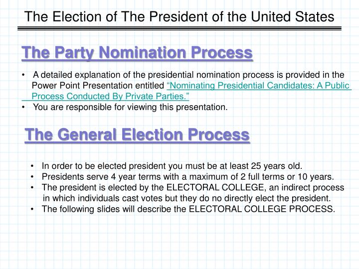 The Election of The President of the United States