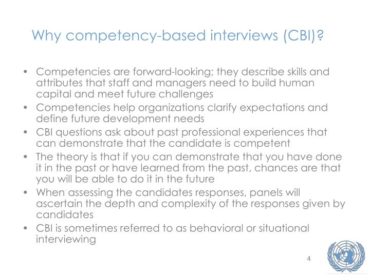 Why competency-based interviews (CBI)?