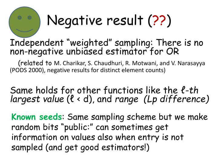 Negative result (