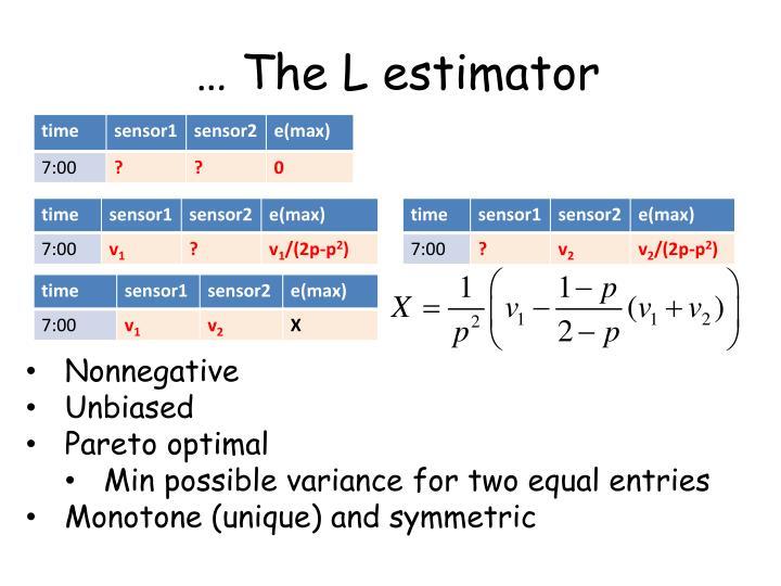 … The L estimator