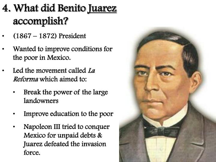 4. What did Benito