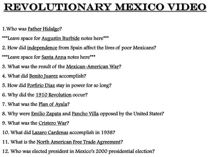 Revolutionary Mexico Video