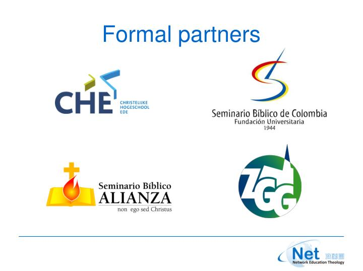 Formal partners