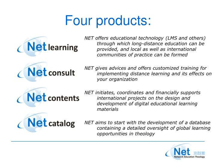 Four products: