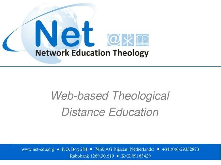 Web based theological distance education