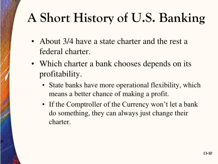 A Short History of U.S. Banking