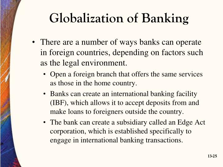 Globalization of Banking