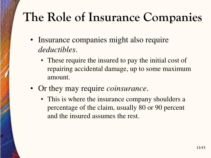 The Role of Insurance Companies