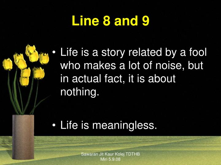 Line 8 and 9