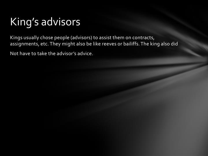King's advisors