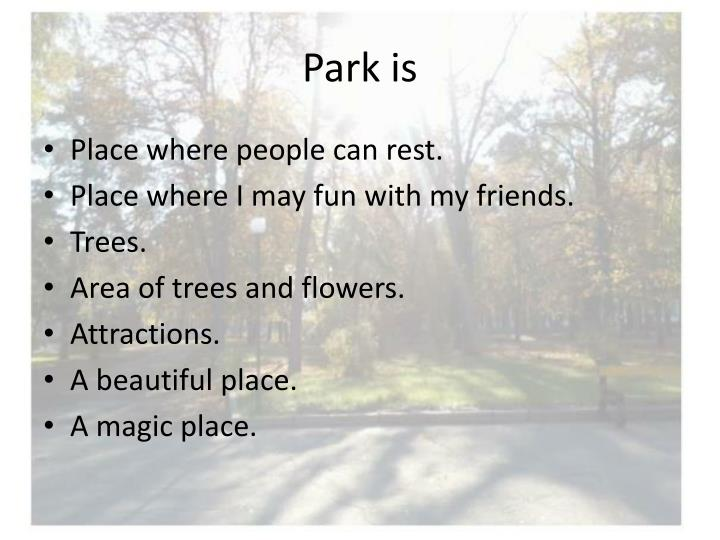 Park is