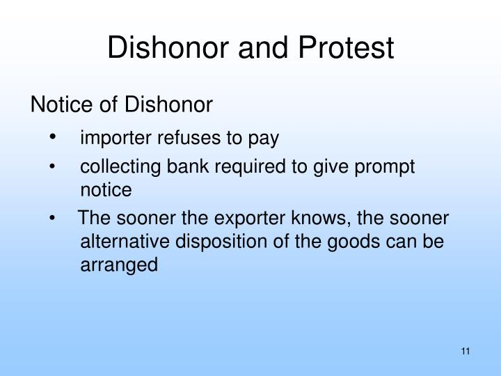 Dishonor and Protest