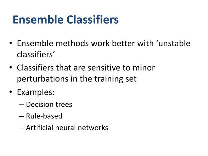 Ensemble Classifiers