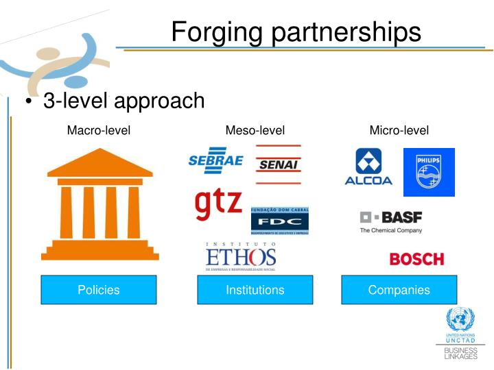 Forging partnerships