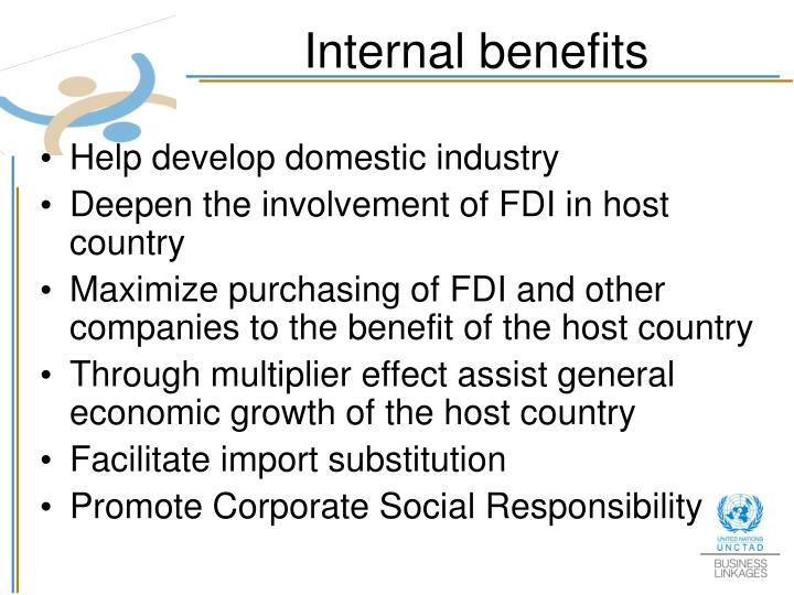 Internal benefits