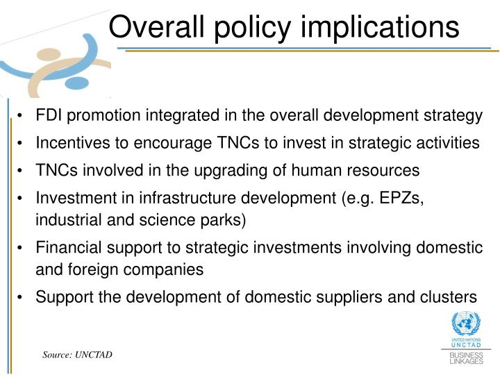 Overall policy implications