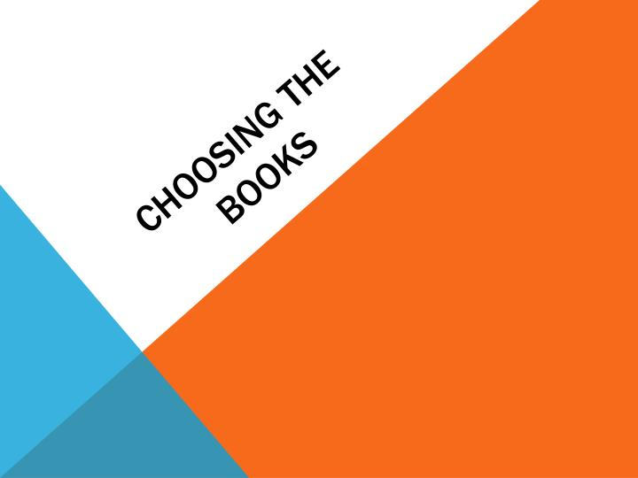 Choosing the books