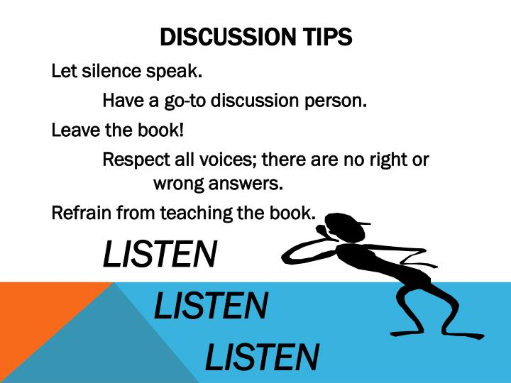 Discussion tips