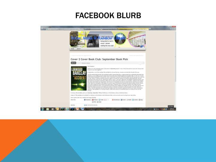Facebook blurb