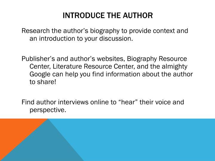 Introduce the author