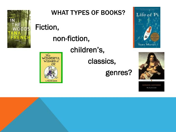 What types of books?