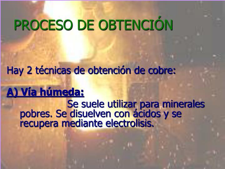PROCESO DE OBTENCIÓN