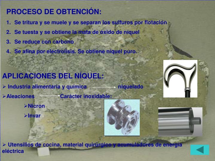 PROCESO DE OBTENCIÓN: