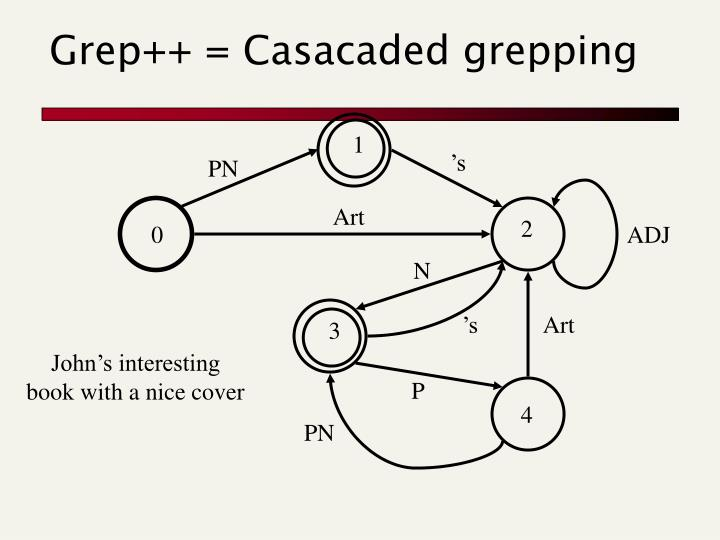 Grep++ = Casacaded grepping