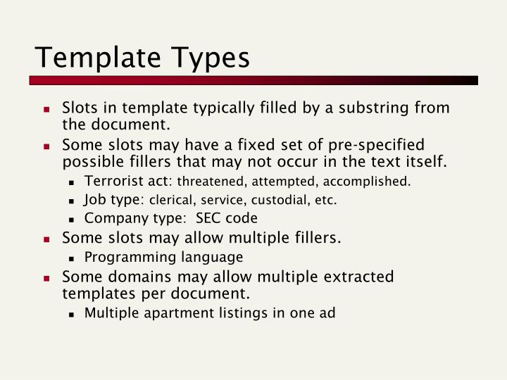 Template Types